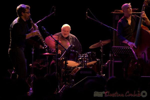 """Emile Parisien, Daniel Humair, Jérôme Regard; Daniel Humair Quartet """"Sweet & Sour"""", Festival JAZZ360 2013, Cénac, 08/06/2013"""