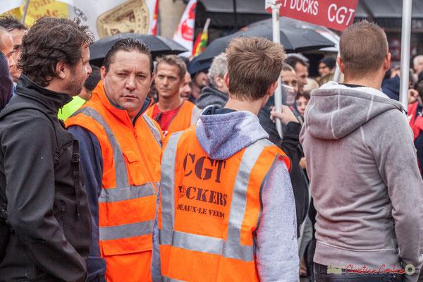 CGT Dockers Bordeaux-Le Verdon. Manifestation contre la réforme du code du travail. Place Gambetta, Bordeaux, 12/09/2017