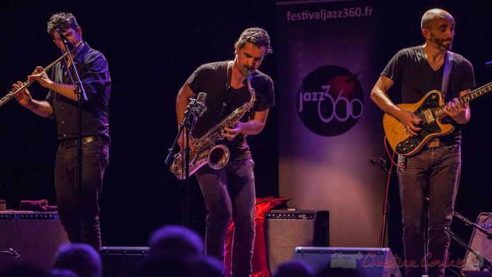 Joce Meinniel, Sylvain Rifflet, Philippe Gordiani, Sylvain Rifflet Quartet, Festival JAZZ360 2016, Cénac, 10/06/2016