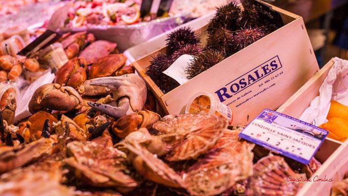 """""""Pince de crabes"""" Marché des Capucins, Bordeaux. Samedi 6 mars 2021. Photographie © Christian Coulais"""