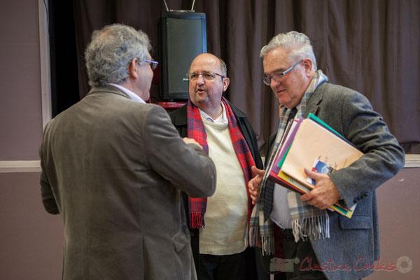 Denis Lopez, Maire de Pompignac, Gérald Goutanier, élu de Croignon, Jean-Marie Darmian, Vice-président du Conseil départemental