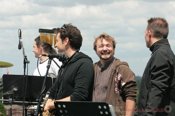 Benoît Saulière, Fabien Lastère, Olivier Pichon, Pascal Saulière; MovieJazzProject, Festival JAZZ360 2010, château Lestange, Quinsac, 16/05/2010