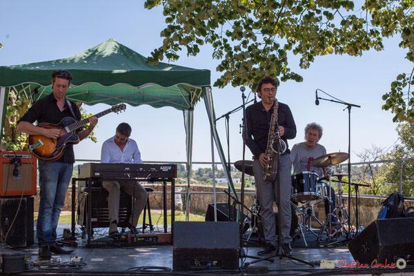 Cyril Amourette, Hervé Saint-Guirons, Jean Vernhères, Christian Ton Ton Salut; Soul Jazz Rebels. Festival JAZZ360, 10 juin 2017, Camblanes-et-Meynac