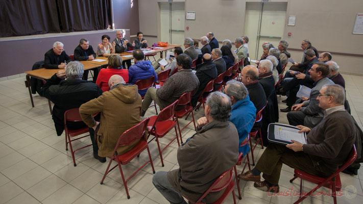 Assemblée générale des Maires et élus du canton de Créon, partagée avec Haux et Tabanac, à Camarsac