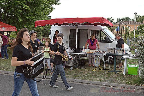 Elèves du Big Band Jazz du Collège Eléonore de Provence (Monségur), Festival JAZZ360 2012, Cénac, 08/06/2012