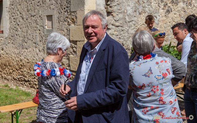 Patrick Bonnet, 1er Adjoint au Maire de Croignon. Tous avec Martine...Faure et Jean-Marie Darmian pour fêter 10 ans de députation et un jubilé d'engagements politiques. 14 mai 2017, Blasimon