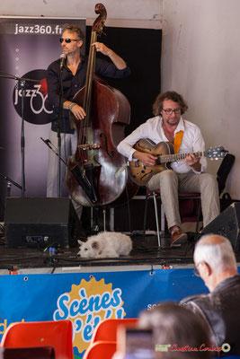 Denis Joëssel, Paul Kurkdjian; Gadjo & Co. Festival JAZZ360 2018, Camblanes-et-Meynac. 09/06/2018