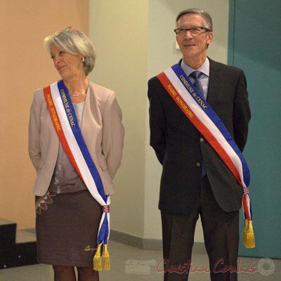 Honorariat de Simone Ferrer et Gérard Pointet, anciens Maires de Cénac; vendredi 3 avril 2015