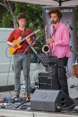 Alexis Valet Quartet : Yori Moy, Brice Matha. Festival JAZZ360 2016, Quinsac, 12/06/2016