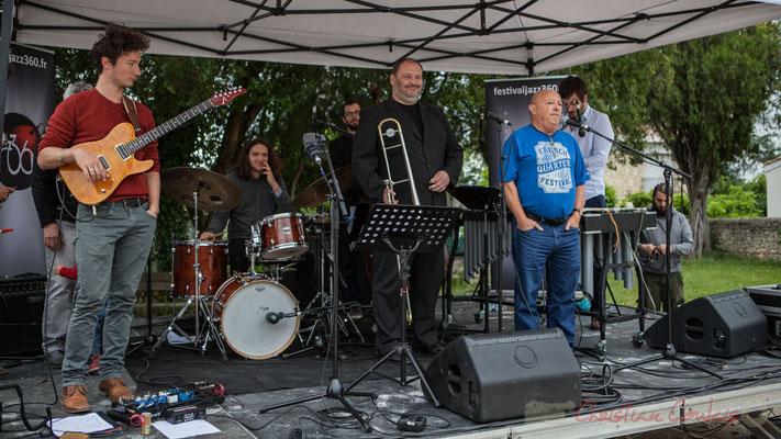 Alain Piarou, Président d'Action Jazz présente Alexis Valet Quartet, Prix du Jury et vainqueur du tremplin Action Jazz 2016. JAZZ360 Quinsac, 12/06/2016