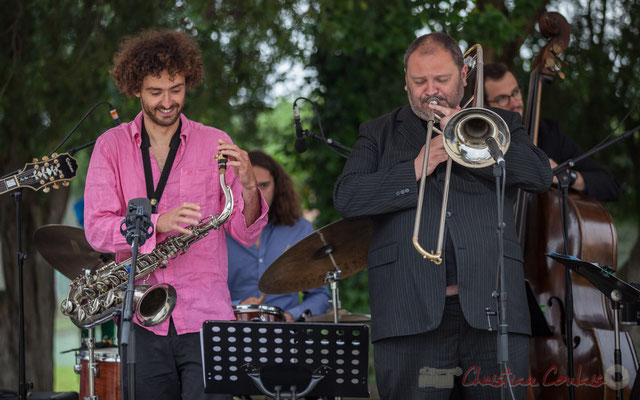 Alexis Valet Quartet : Brice Matha, Sébastien Arruti. Festival JAZZ360 2016, Quinsac, 12/06/2016