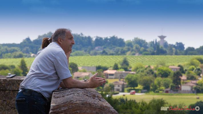 Jean-Philippe Guillemot, Maire de Camblanes-et-Meynac et Marie Neuville, journaliste France 3 Aquitaine. Tom Ibarra Group. Festival JAZZ360, 10 juin 2017, Camblanes-et-Meynac