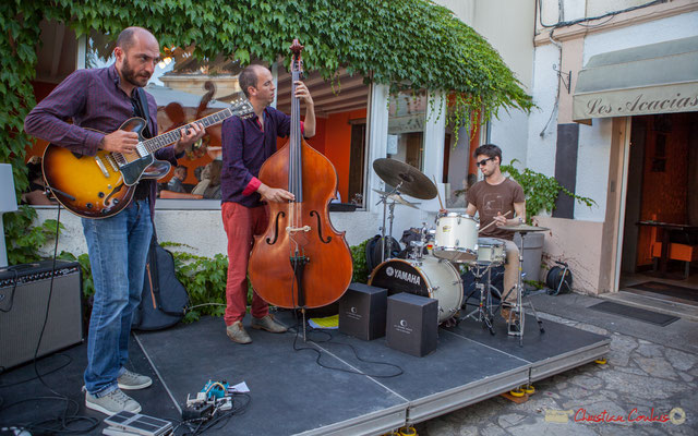 Thomas Saint-Laurent, Thomas Julienne, Tom Peyron, TSL Trio, Festival JAZZ360, 10 juin 2017, restaurant les Acacias, Cénac
