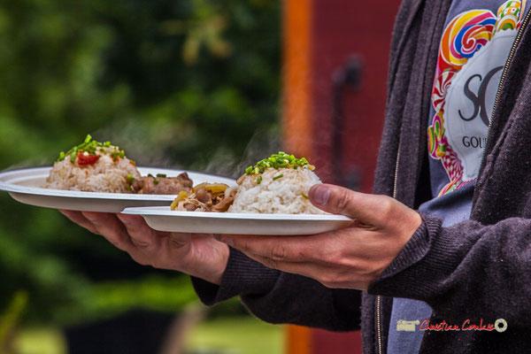 """""""Hum, quel fumé cette cuisine philippine !"""" Pique-nique vigneron avec Nicolas Saez Quartet, Festival JAZZ360 2019, Château Duplessy, Cénac, lundi 10 juin 2019"""