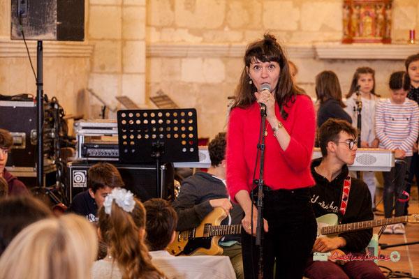 Caroline Turtaut et sa Chorale des T.A.P. de Cénac. Festival JAZZ360 2019, vendredi 7 juin 2019.