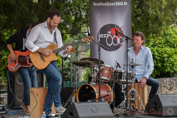 Jean Lassallette, Christophe Léon Schelstraete, Taldea Group. Festival JAZZ360 2016, Quinsac, 12/06/2016