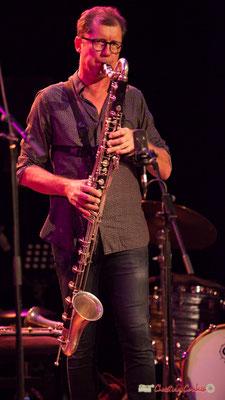 Fred Pouget, clarinette basse sib; Clax Quartet. Festival JAZZ360 2018, Cénac. 09/06/2018