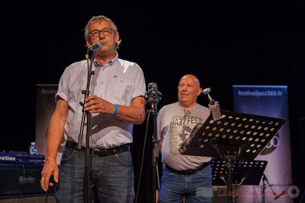 Richard Raducanu, Président de JAZZ360, présente les concerts de la soirée, Le JarDin Quartet, puis Sylvain RIfflet Quartet
