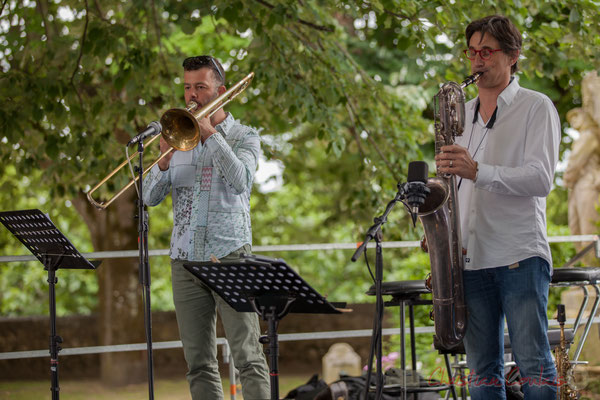 Eric Séva Quartet : Daniel Zimmermann, Eric Séva. Festival JAZZ360 2016, Camblanes-et-Meynac, 11/06/2016