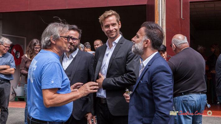 Richard Raducanu, Président de l'association JAZZ360 accueille NIcolas Saez et son quartet. Festival JAZZ360 2019, Château Duplessy, Cénac, lundi 10 juin 2019
