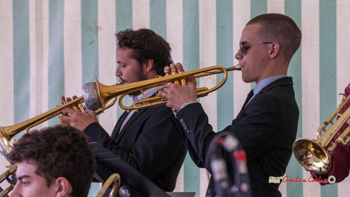 Robin Peret; Big Band du Conservatoire Jacques Thibaud. Festival JAZZ360 2019, parc du château de Pomarède, Langoiran. 06/06/2019