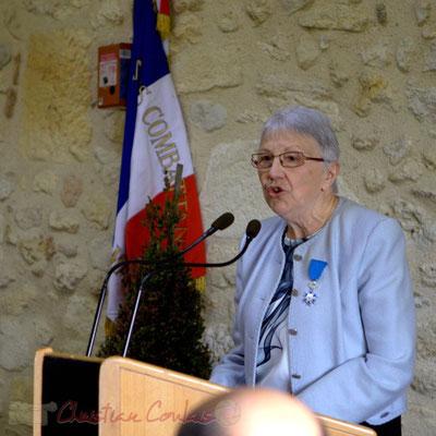 Suzette Grel, Chevalière de l'Ordre national du Mérite, ancienne enseignante, ancienne Maire, Présidente d'association, 7 février 2015, Le Pout