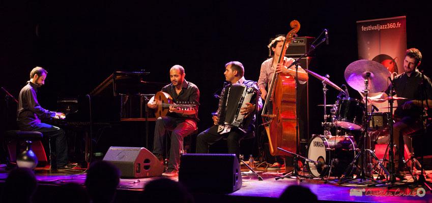 Eym Trio; Elie Dufour, Mohamed Abozekry, Marian Badoï, Yann Phayphet, Marc Michel. Festival JAZZ360, Cénac, 09/06/2017