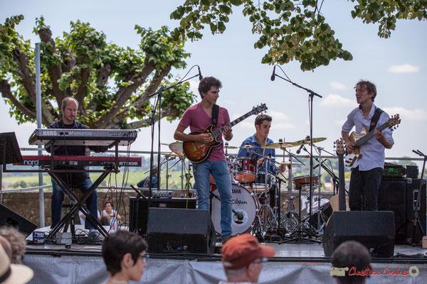 Christophe de Miras, Tom Ibarra, Pierre Lucbert, Jean-Marie Morin; Tom Ibarra Group. Festival JAZZ360, 10 juin 2017, Camblanes-et-Meynac