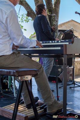 Hervé Saint-Guirons et sa chaussette pour pédales délicates; Soul Jazz Rebels. Festival JAZZ360, 10 juin 2017, Camblanes-et-Meynac