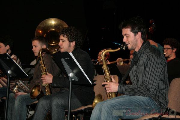 Saxophones. Big Band du Conservatoire Jacques Thibaud, section Musiques Actuelles Amplifiées-Jazz. Festival JAZZ360 2010, Cénac. 14/05/2010