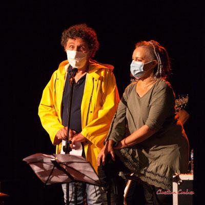 Michel Bourdot, référent JAZZ360 pour cette création musicale Siladigueron, Carole Simon-Tocah. Lundi 7 juin, Cénac. Photographie © Christian Coulais