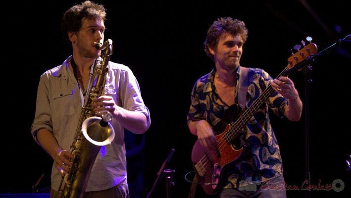 Paul Robert, Philippe Siffre; Edmond Bilal Band, Festival JAZZ360 2013, Cénac. 07/06/2013