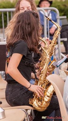 Les saxophones. Big Band Jazz du Collège Eléonore de Provence, dirigée par Rémi Poymiro. Festival JAZZ360 2018, Cénac. 08/06/2018