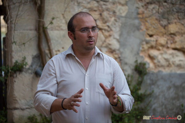 Christophe Miqueu, candidat aux élections législatives, 12ème circonscription de la Gironde. Langoiran, 16 mai 2017