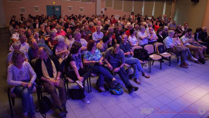 Salle culturelle comble pour écouter Misc et Géraldine Laurent. Festival JAZZ360 2016, Cénac, 11/06/2016