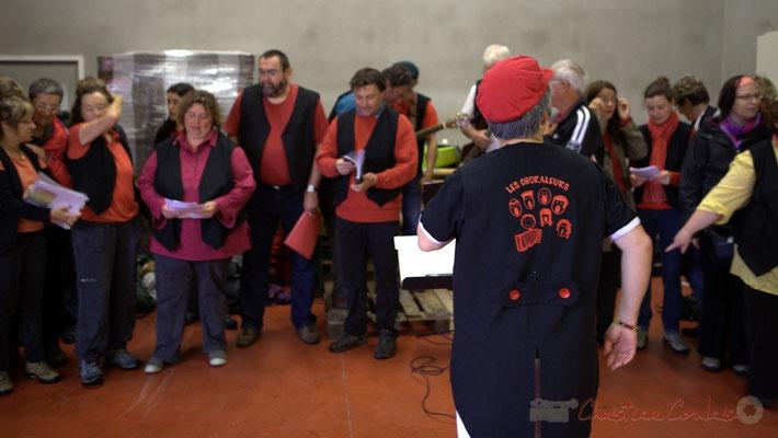 Nathalie Aubin cheffe de cœur; Randonnée jazzy avec les Choraleurs. Festival JAZZ360 2012, Cénac, dimanche 10 juin 2012