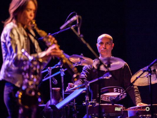 Asaf Sirkis; Céline Bonacina Crystal Quartet; Festival JAZZ360 2019. Cénac, 08/06/2019