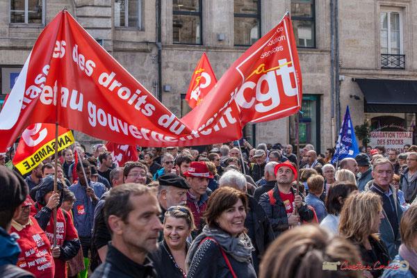 CGT Ansamble. Manifestation contre la réforme du code du travail. Place Gambetta, Bordeaux, 12/09/2017