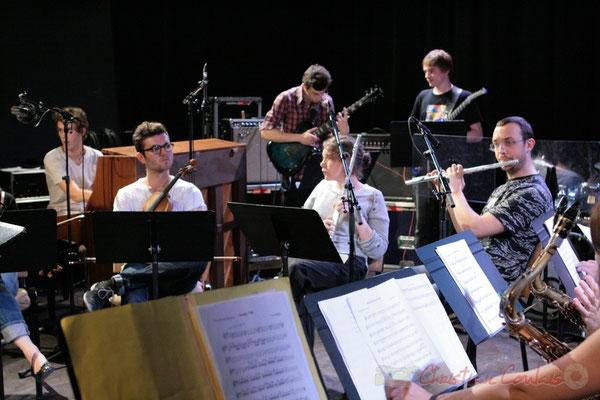 Répétition du Conservatoire Jacques Thibaud, section MMA. Festival JAZZ360, Les coulisses du Festival à Cénac. 03/06/2011