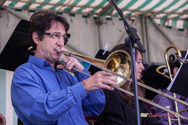Didier Lacombe; Big Band du Conservatoire Jacques Thibaud. Festival JAZZ360 2019, parc du château de Pomarède, Langoiran. 06/06/2019