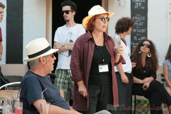 Jean-Paul Robert, Annie Robert, bénévoles. Concert des Ateliers Jazz des conservatoires de Bordeaux et Agen. Festival JAZZ360 2011, restaurant les Acacias. 05/06/2011