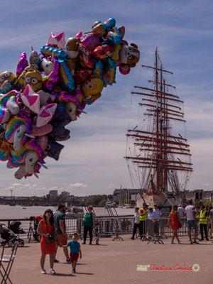 """""""Lequel de ces ballons choisir ?"""" Bordeaux fête le fleuve. 22/06/2019 Reproduction interdite - Tous droits réservés © Christian Coulais"""
