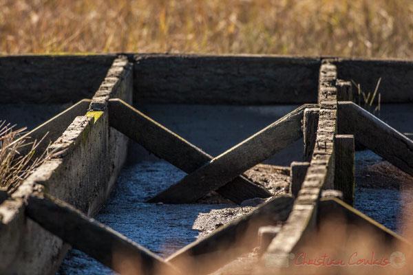 Barque abandonnée, détail I. Domaine de Certes-et-Graveyron, Audenge
