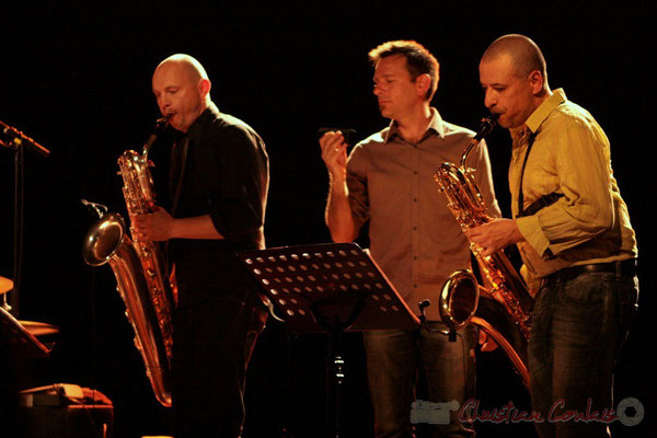 Guillaume Schmidt, Didier Ottaviani, Alain Coyral; Fédération Française de Baryton (FFB), Festival JAZZ360, Cénac. 05/06/2011