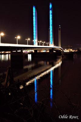 Le pont Jacques Chaban-Delmas photographié par Odile Roux. Bordeaux, 27 février 2019