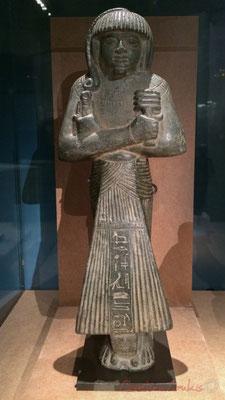 Chaouabti de Khôemouaset. Grauwacke. Probablement Saqqara; Sérapéum. Nouvel empire; XIXème dynastie; règne de Ramsès II (1279 -1213 av. J.-C.) Musée du Louvre