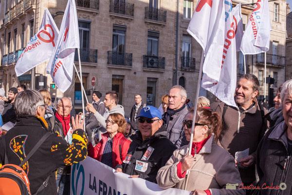 1 Portes-bannière la France insoumise. Manifestation intersyndicale contre les réformes libérales de Macron. Cours d'Albret, Bordeaux, 16/11/2017