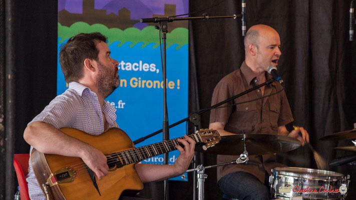 Arnaud Bouquin, Valery Haumont; Gadjo & Co. Festival JAZZ360 2018, Camblanes-et-Meynac. 09/06/2018
