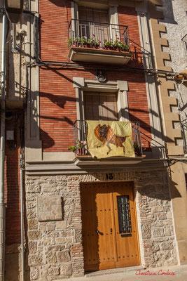 Façade de maison, Calle Mayor, Sangüesa, Navarra
