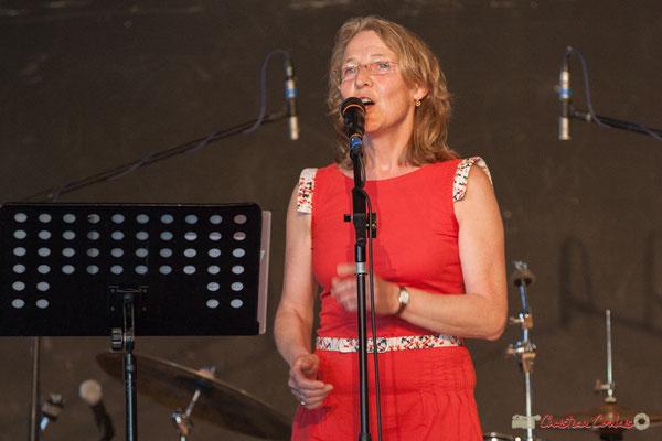 Isabelle Verger. Ensemble vocal Semailles. Concert de soutien des Insoumis de la 12ème circonscription de la Gironde. 28/05/2017, Targon